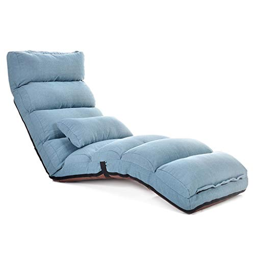 T-T-H Lazy Sofa Cama sofá Cama Individual Silla de Piso Plegable Silla...