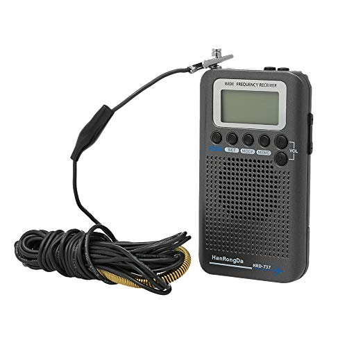 Festnight Tragbarer Radio Full Band HanRongDa HRD-737 Aircraft Bandempfänger FM/AM/SW/CB/UKW/Air/VHF-Weltband mit LCD-Anzeige
