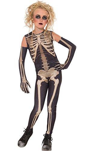 Imagen de rubie 's disfraz oficial esqueleto para mujer niñas pequeñas
