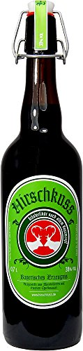 Hirschkuss 38% 0,7l Schnackelverschlussflasche, Kräuterlikör aus Oberbayern