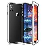 CE-LINK Coque iPhone XS Max, Magnétique Transparent Housse Rigide en Verre Trempé...