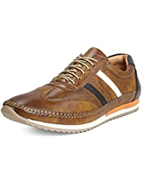 Bacca Bucci Men's Casual Flat Sole Lace Up Comfy/Non-Slip/Walking/Dress/Wider Fitting Big/Large/Plus Size Men...