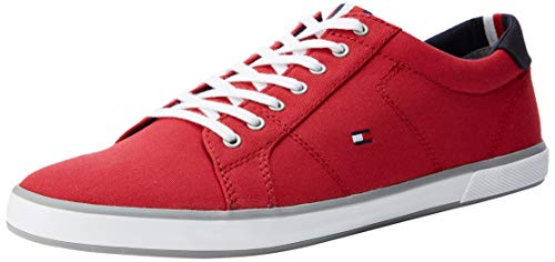 Tommy Hilfiger Herren Iconic Long LACE Sneaker, Rot (Tango Red 611), 41 EU - Sportiva Rot Schuhe