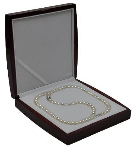 AAA 7,5–8mm Blanc Collier de perles de culture de 24en classique