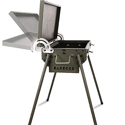 JF Gasgrills Barbecue Grill, Außen Multi-Purpose Grill, gedreht Werden kann, Smokeless, faltbar, verdickte BBQ Grill mit Ablagekorb