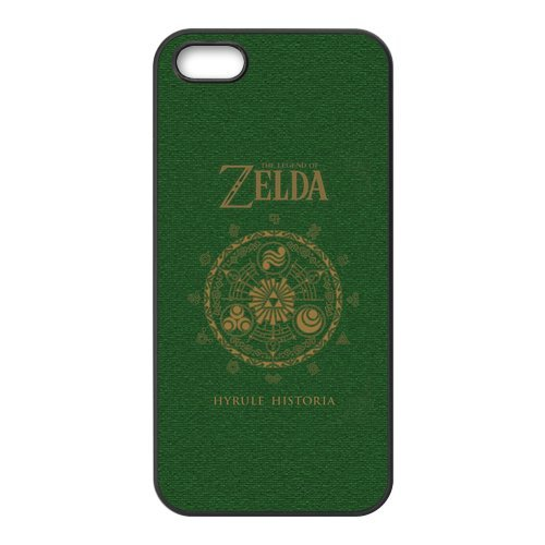 Apple iPhone 5/iPhone 5S Case Cover Case - The Legend of Zelda TPU Étui Coque de Protection pour iPhone 5 5S (Blanc/Noir)