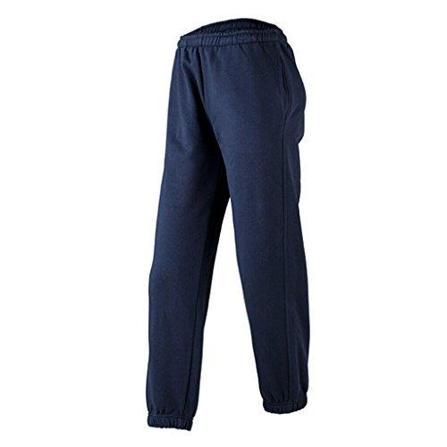 JAMES & NICHOLSON Pantalon jogging non déformable aubergine/Blanc