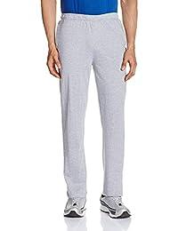 Hanes Men's Cotton Track Pants (8907378021595_MPP70-031-PL_Large_Oxford Grey Melange)