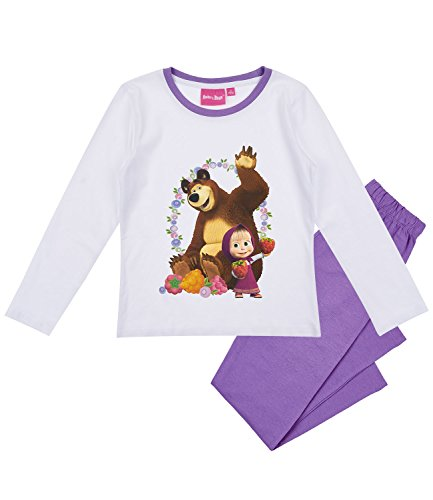 Masha e orso ragazze pigiama - bianco - 116