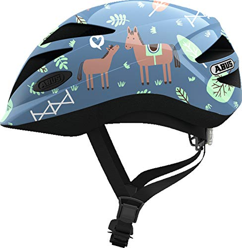 Abus Hubble 1.1 Helmet Blue Horse Kopfumfang S   46-52cm 2019 Fahrradhelm