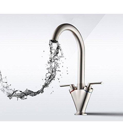 BLYC- Europeo moderno Ottone Due maniglia Kitchen Sink rubinetto girevole