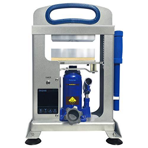 Dulytek DHP7-E Hydraulische Wärmepressemaschine, 7-Tonnen-Presskraft, Dual Heat 152 x 64 cm-Platten, Touchscreen-Panel
