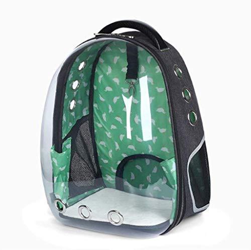 WJDOZ Borsa da Viaggio Easy To Go out Borsa da Viaggio per Gatto con Zaino Grande capacità 32 x 28 x 44 cm (Color : Green)