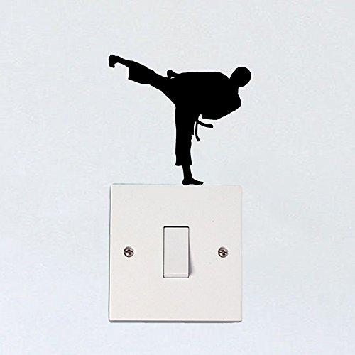 Karate Boy Fashion Dekor Vinyl Lichtschalter Aufkleber Wandtattoos 5 WS 1429