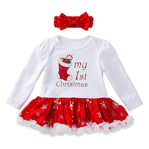 Saingace(TM) Neugeborenes Kleidung Outfits Bekleidung Kleinkind Neugeborenes Baby Mädchen Prinzessin Brief Tutu Kleid Weihnachten Outfits Set