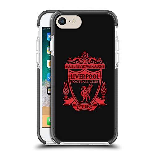 Head Case Designs Offizielle Liverpool Football Club Schwarz 1 Crest 2 Schwarz Schocksicherer Gel Bumper Hülle für iPhone 7 / iPhone 8