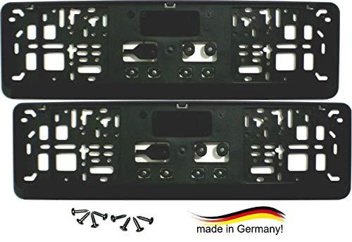 Satz (2 Stück) Kennzeichenhalter - KURZ (46 cm) - PREMIUMQUALITÄT - NEU - inklusive 8 Schrauben - Nummernschildhalter