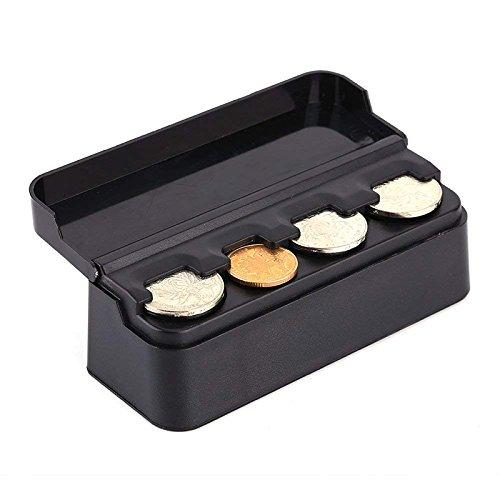 Auto Münzetui Auto Münzen Halter Teleskop Armaturenbrett Münzen Etui Münzen Koffer Aufbewahrungsbox Münzbehälter für US Quarters Dimes Nickel Pennies Euro -
