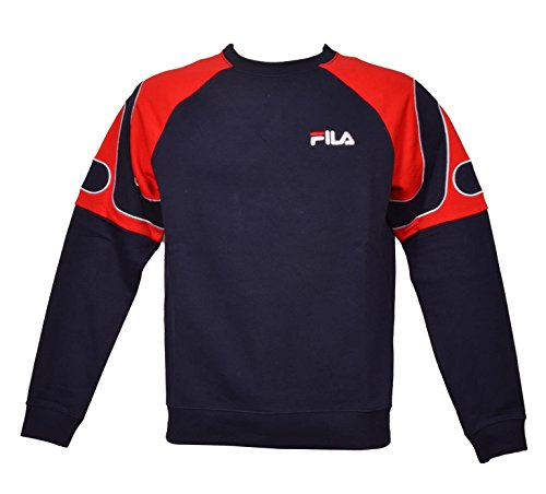 Fila Vintage Men's Aria Archive Raglan Sweatshirt, Blue