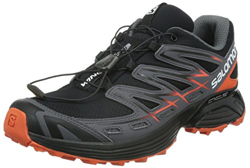 Salomon - Wings Flyte - , homme, multicolore (black/dark cloud/tomato red), taille 42 multicolore (Black/Dark Cloud/Tomato Red)