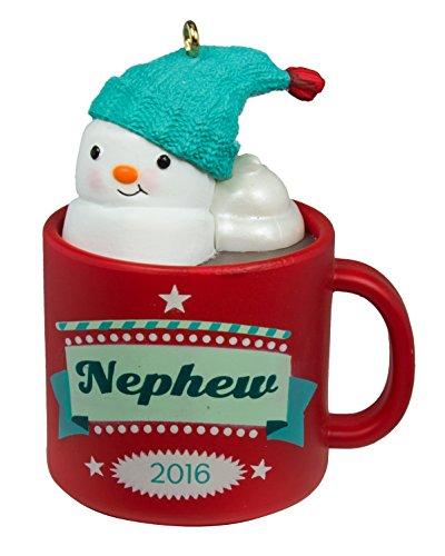 16Nephew Hot Kakao Tasse und Marshmallow Schneemann Ornament ()