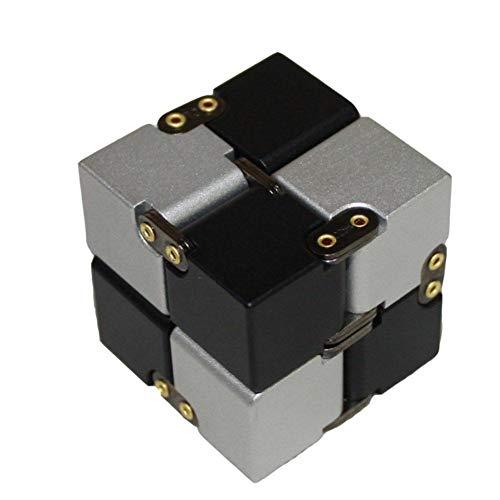 Infinity Cube Fidget Cube Toy Adatto per Adulti e Bambini, Nuova Versione Fidget Finger Toy Stress e ansia Relief Killing Time Giocattoli Fidget Infinite Cube Adatto per Office Staff (Nero)
