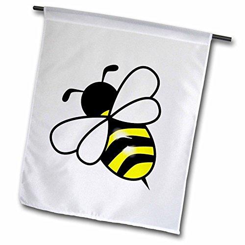 3dRose FL 43827_ 1groß gelb N schwarz Bumblebee Garten Flagge, 12von 18