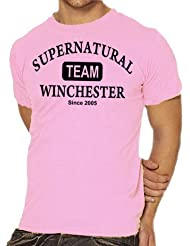 Touchlines Herren T-Shirt Supernatural - Team Winchester