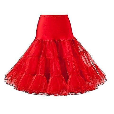 Kinikiss Womens 50s Vintage Wedding Dresses Ballet Dress Skirt Petticoat