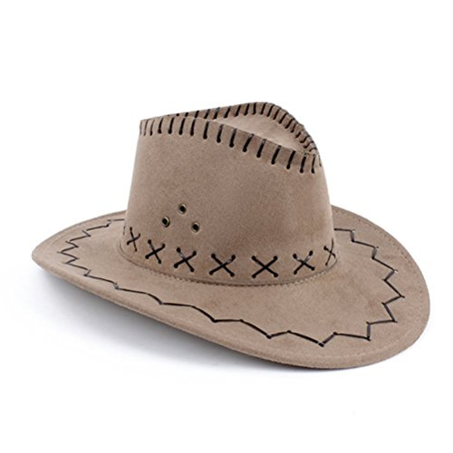 n Wildleder Fancy Kleid Zubehör Cowboy Cowgirl Hat Wild West Khaki (Childs Deluxe Cowboy Kostüme)