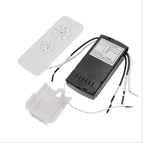 Universal de la lámpara de Techo Ventilador de Control Remoto Kit 110-240 sincronización inalámbrica Interruptor de Control de Velocidad del Viento Ajustado transmisor Receptor