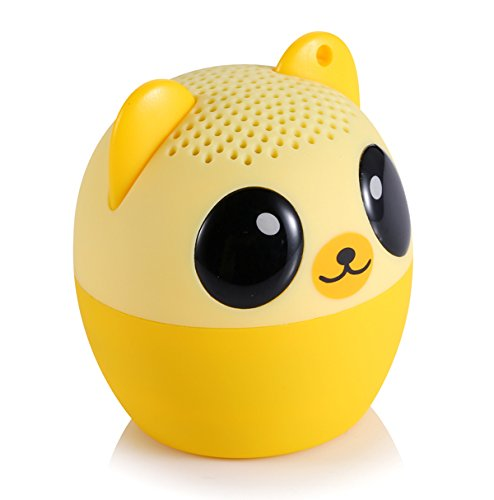 DolDer Mini Tragbar Bluetooth wireless Lautsprecher inkl. USB-Ladekabel Kompatibel mit Smartphones, Tablets und MP3 Geräten wie iphone, Samsung Galaxy, HTC, LG - Bär -
