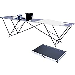 Goods & Gadgets 3m Tapeziertisch Faltbarer Tisch zum Tapezieren klappbar 3 Meter mit Mess-Skala und Tragegriff