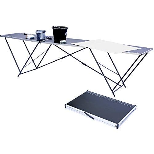 3m Tapeziertisch faltbarer Tisch zum Tapezieren klappbar 3 Meter mit Mess-Skala und Tragegriff