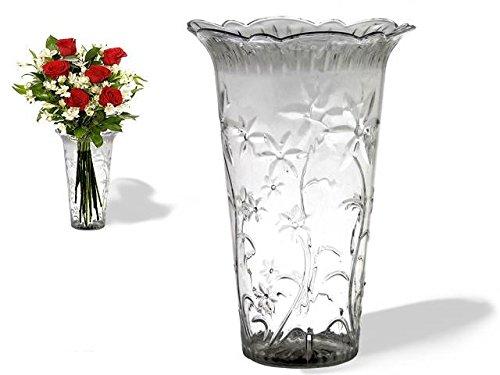 AVENUELAFAYETTE Vase transparent décoré - 20 cm