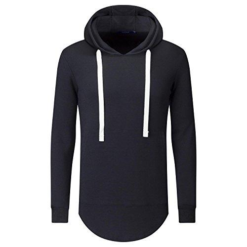 AIYINO Plain Pullover Hoody Hooded Top Hoodie for Mens Hooded Sweatshirts