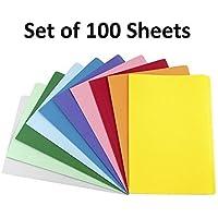 Zap Impex® prämie Paquete con 100hojas superficie lisa A4tamaño diferentes colores Copiar fotocopiadora Impresión papeles–Home, Colegio, Oficina schreibwaren