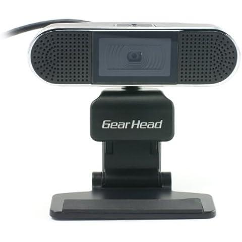 Gear Head WC7500HD cámara web - Webcam (1280 x 800 Pixeles, 2560 x 1600 Pixeles, USB, Negro,