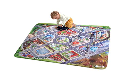 ACHOKA House of Kids 86000-E3 - Playmat Ultra Soft District Connect, 130 x 180 cm