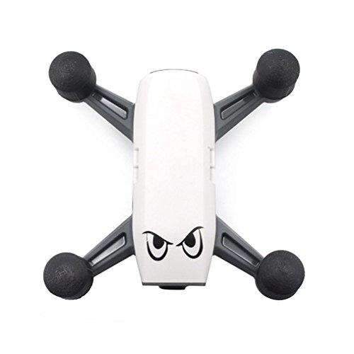 Lanspo Schutzhülle Cover 4Pcs 3D Druck Motor Schutzhülle Zubehör für DJI SPARK Drone (Schwarz)