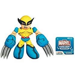 Marvel Super Heroes Adventures Bean Bag Plush Wolverine by Hasbro 1001119