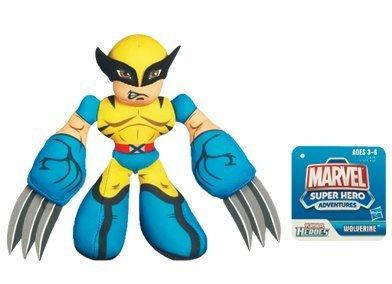 Marvel Super Heroes Adventures Bean Bag Plush Wolverine by Hasbro 1001119