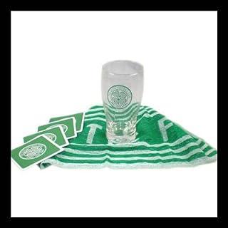 Celtic Glasgow FC SPL Fußball Mini Bar Set Bier Glas Pint Tuch Bierglas Krug