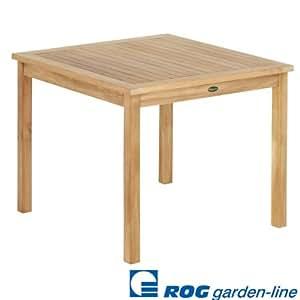 """ROG garden-line TL8132: TEAK TISCH""""CARDIFF"""" FEST 90x90 CM"""