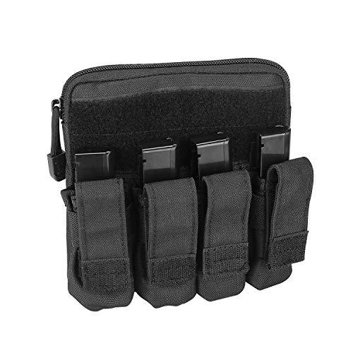 ProCase Taktische Pistolenmagazintasche, Molle Gewehr Magazintasche EDC Werkzeug Beutel Patrone Mag Halter für Glock M1911 92F Smith Wesson Ruger Sig Sauer Beretta HK USP und Anderen -Schwarz -