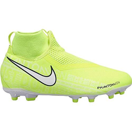 Nike Unisex-Kinder Jr. Phantom Vision Academy Dynamic Fit Mg Fußballschuhe, Grün (Volt/White/Volt 717), 37.5 EU