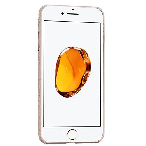 Coque iPhone 7 Plus Motif Bois Naturel Etui Housse , We Love Case TPU Silicone Étui pour Apple iPhone 7 Plus Original Design Caoutchouc Coque Souple Soft Case Cas Couverture Housse de Protection Mince Bois Clair