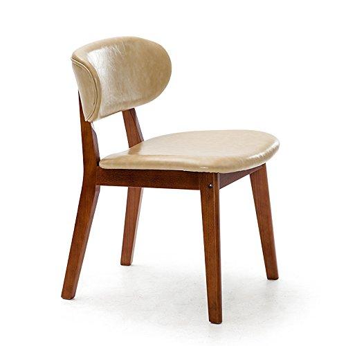 MEIDUO Durable Selles Chaises en bois massif à manger chaise adulte fauteuil enfant pour intérieur extérieur (Couleur : Beige, taille : 1002)