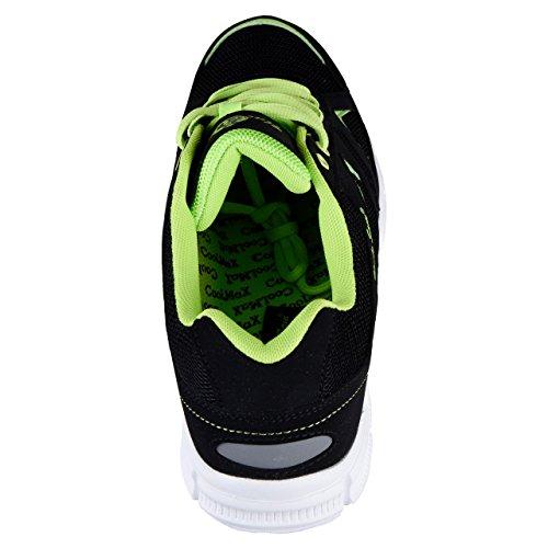 HSM, Scarpe da corsa uomo Nero/Verde