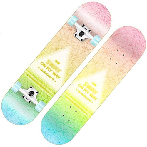 ASDFNF Roller Anfänger Erwachsene Jungen Und Mädchen Pinsel Hip-Hop Board Double Rocker Kinder Vierrädrige Roller Skateboards (Color : B) (Board Roller Rocker)